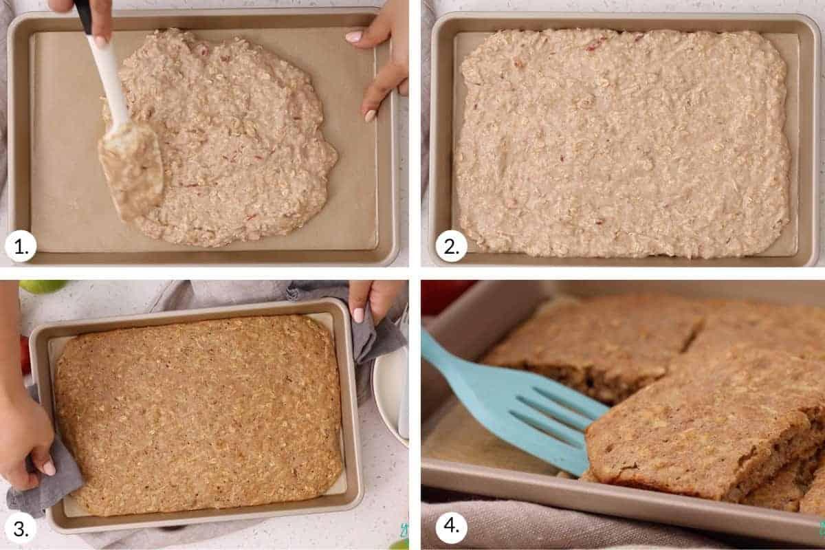 how to make sheet pan apple pancake step by step