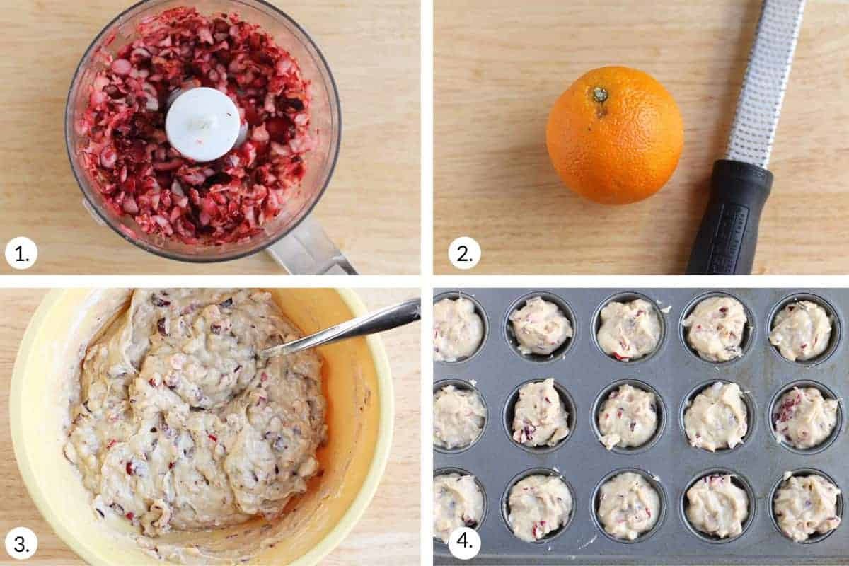 how to make cranberry muffins step by step