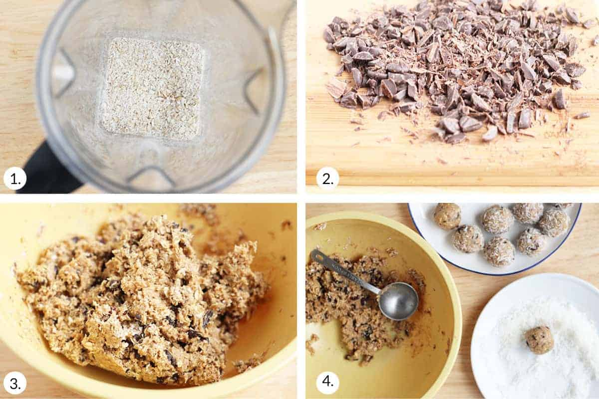 how to make no bake peanut butter balls step by step