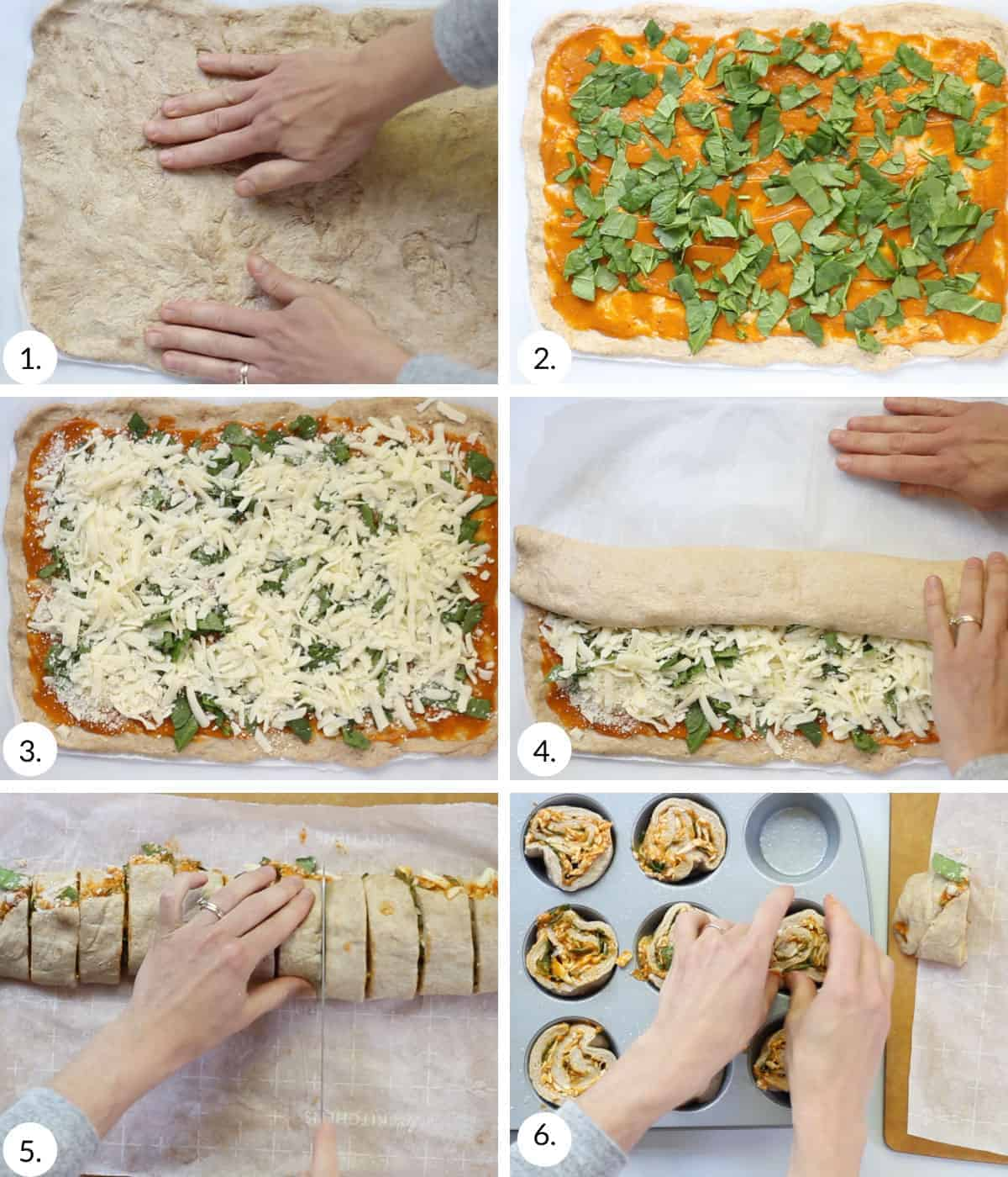 how to make pizza rolls step by step