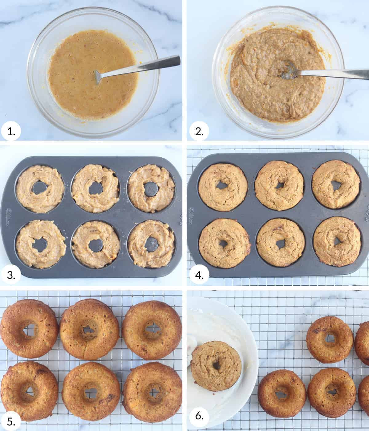 how to make sweet potato donuts step by step