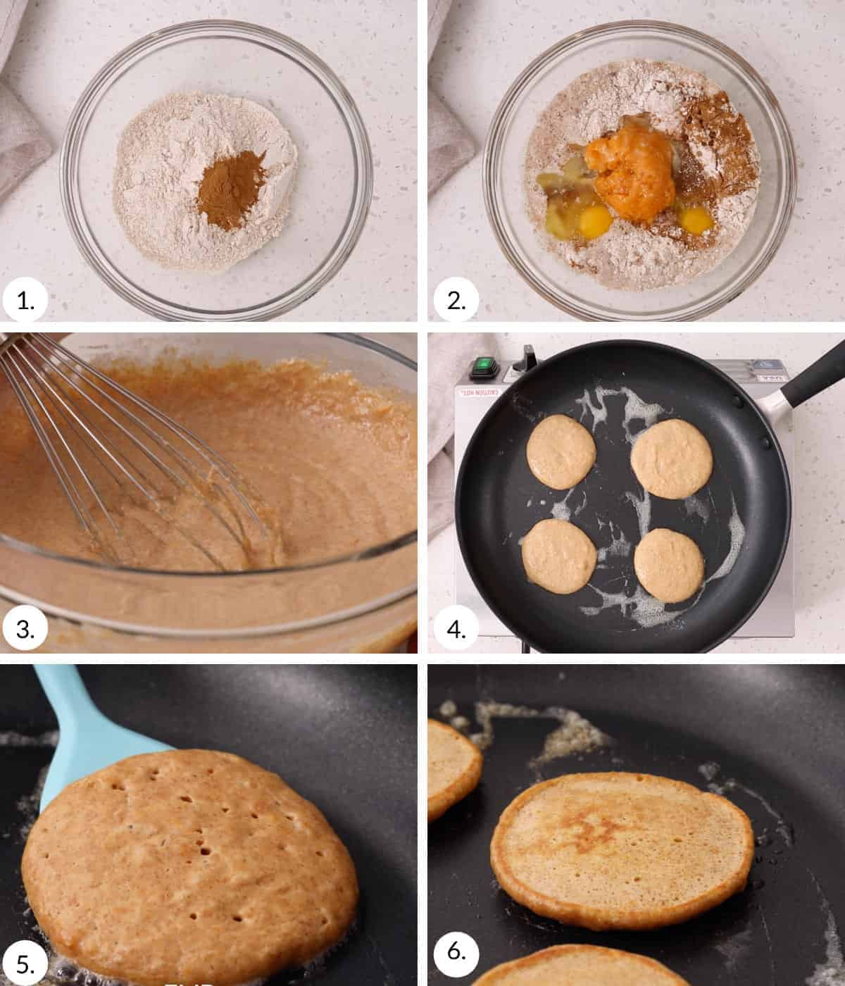 how to make sweet potato pancakes step by step