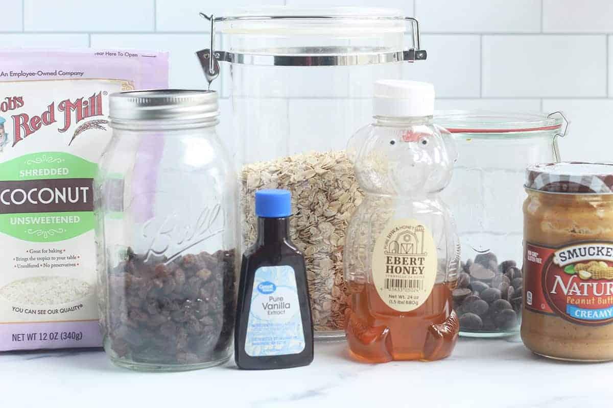 ingredients in peanut butter balls