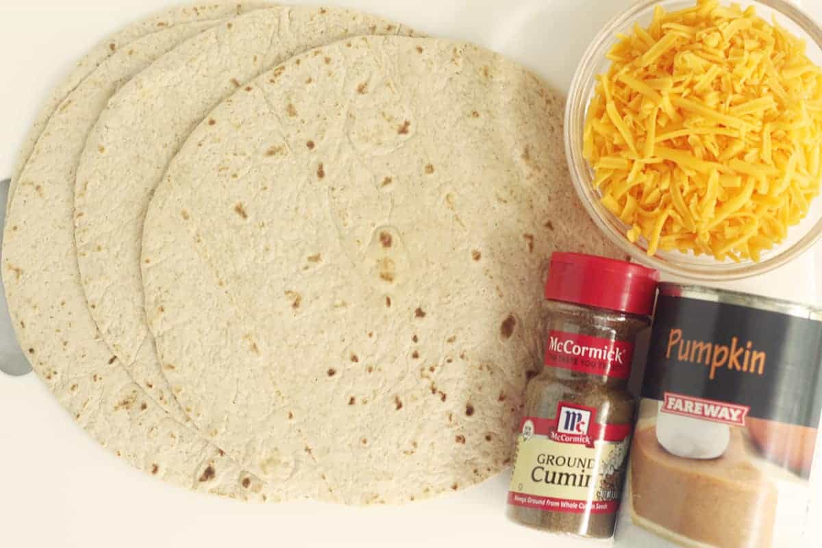 ingredients in pumpkin quesadilla