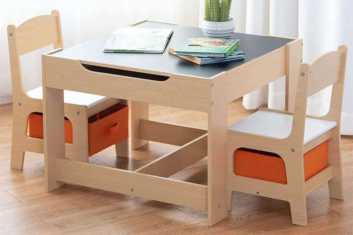 Costzon kids storage table and chairs