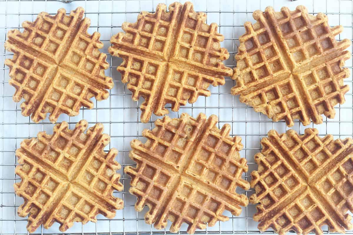 sweet potato waffles on rack