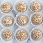 apricot-balls-in-white-paper-cups