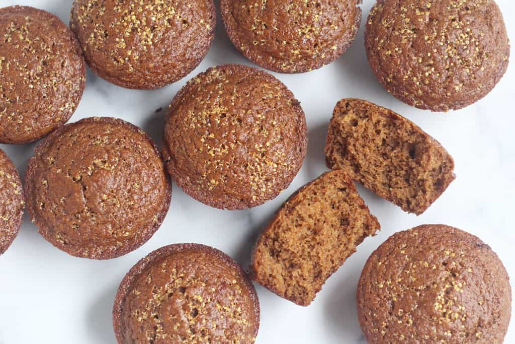 gingerbread-muffins-on-counter