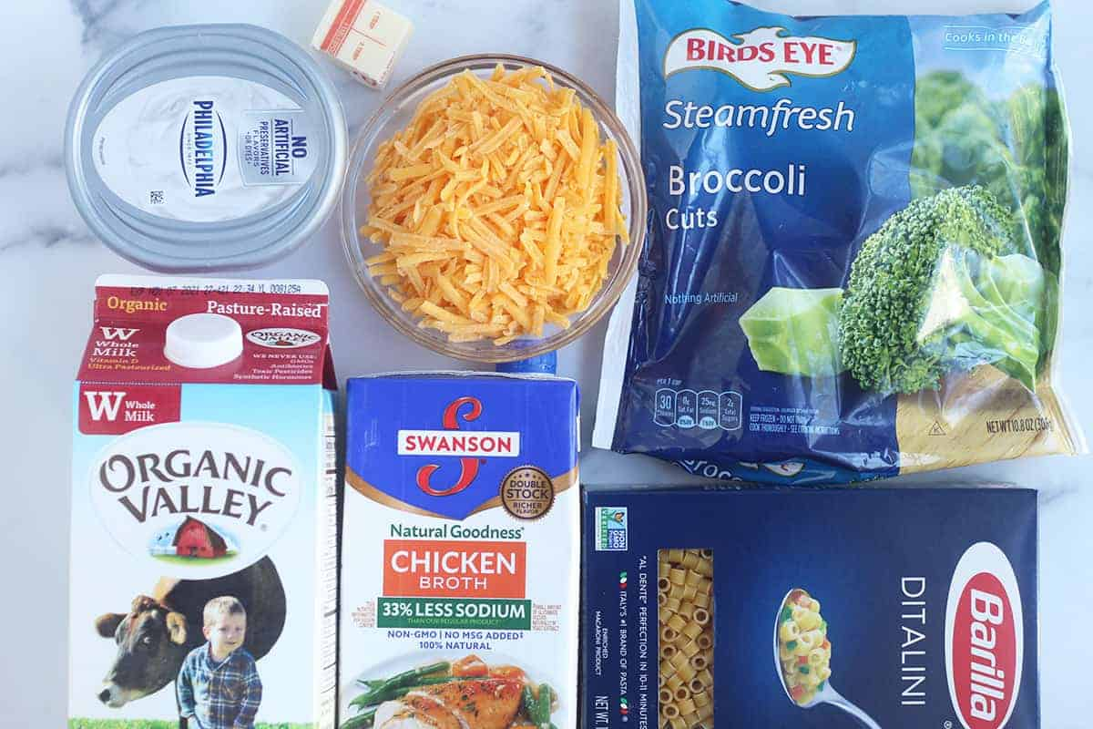 ingredients in broccoli mac and cheese